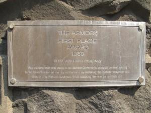 Port Armory plaque